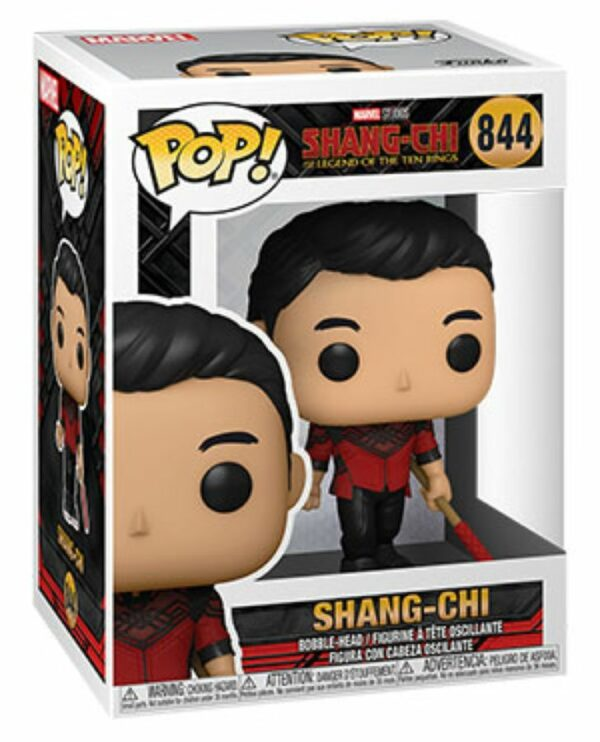 POP MARVEL VINYL FIGURE #844: Shangi-Chi with Staff: Shang-Chi & Legend of the Ten Rings