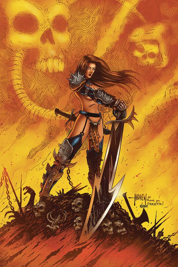 CAVEWOMAN: METAL AGE #2: Andrew Mangum cover A
