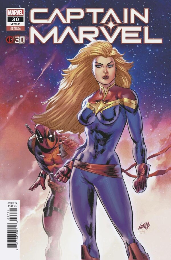 CAPTAIN MARVEL (2019 SERIES) #30: Rob Liefeld Deadpool 30th Anniversary cover