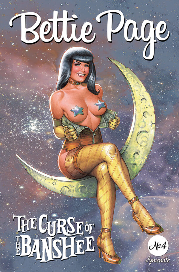 BETTIE PAGE & THE CURSE OF THE BANSHEE #4: Joseph Michael Linsner cover B