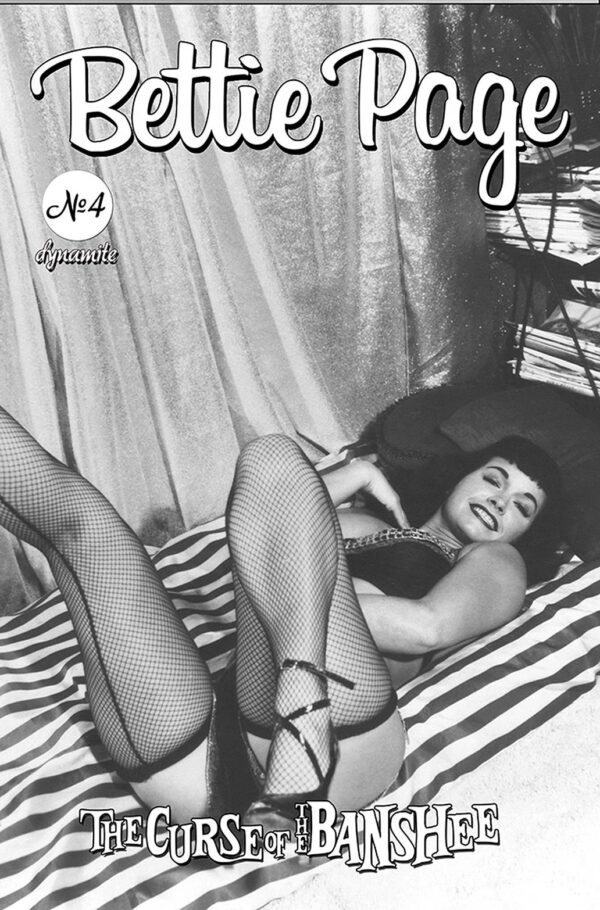 BETTIE PAGE & THE CURSE OF THE BANSHEE #4: Bettie Page Pin-Up cover E